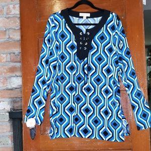 Michael Kors Beautiful Long Sleeve Tunic Size XL